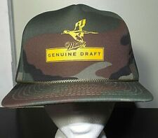 Miller Genuine Draft Vintage Camo Snapback Hat Collectible EUC Trucker Hunting