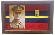 Large Royal Artillery Medal Display Case With Photograph For 2 Medals