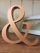 9 Wooden Copper Letters, Any A-Z or & Sign or Numbers, 13cm Large Letters