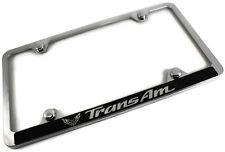 Pontiac Trans Am Slim ABS Plastic License Plate Tag Frame Mirror Chrome Cap