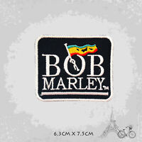 Bob Marley Rasta Flag Patch Iron On Patch Sew On Embroidered Patch