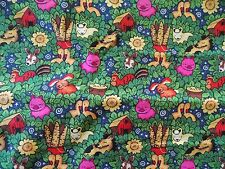 Estate Fabric Vintage Retro Animals Farm Country Folk Barn Mod Novelty ++ Quilt