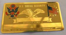 U.S. Army US Social Security Metal Card Tag NOS VTG Perma Products