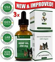 (PACK OF 3) Hemp Oil for Dogs & Cats - #1 Organic Anxiety & Pain Relief for Pets