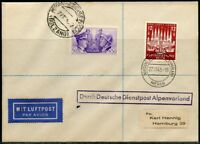 GERMANY WWII OFFICIAL MAIL CHANCELLOR/MUSSOLINI DUAL FRANKED COVER MERAN