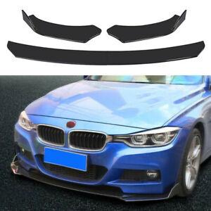 Glossy Black Car Universal Front Bumper Lip Chin Spoiler Splitter Body Kit US