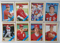 1988 Topps Traded St. Louis Cardinals Team Set of 8 Baseball Cards