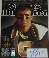 Drew Brees Signed Saints 12/6/2010 Sports Illustrated Brees Holo Tristar