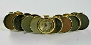 Vintage Gruen Precision Art Deco Extra Fancy Bracelet Ladies Watch Runs lot.e
