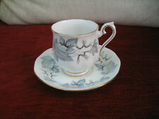 ROYAL ALBERT 'SILVER MAPLE' COFFEE CUP AND SAUCER