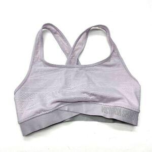 Victoria's Secret The Player Lace Yoga Sports Bra Sz M Lilac Purple Racerback