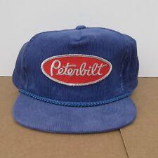 Vintage Peterbilt Corduroy Hat One Size Snapback Adjustable Purple Trucking Co.