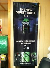 """TRIUMPH STREET TRIPLE 675 BANNER 28"""" x 71"""" ROLL UP FLAG PROMOTIONAL AD CAMPAIGN"""