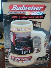 budwieser ofiicial beer nascar 50th aniversery stein mug