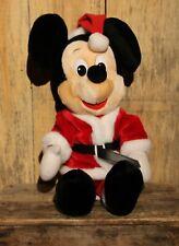 "Vintage Mickey Mouse Christmas Stuffed Plush Disney Parks Stuffy Toy 24"""