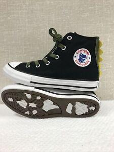 CONVERSE CTAS DINOVERSE Black/White Junior/Youth Casual Sneakers/Shoes Sz 1 NIB