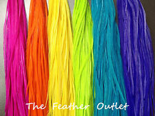 Lot 20 Grizzly Solid Feathers Hair Extensions MultiColor Bright Real All SOLID
