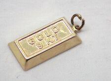 9 carat Gold Ingot Charm