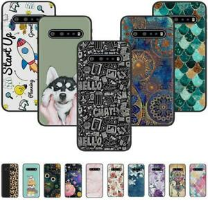 For LG V60 ThinQ K61 K41S K51S Stylo6 Black Painted Silicone Soft TPU Case Cover