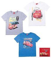 Neu T-Shirt Jungen Pixar Cars kurzarm blau weiß grau Gr. 98 104 110 116 128 #56