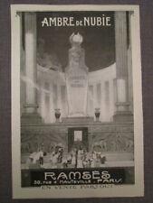 """PUBLICITÉ DE PRESSE 1919  """"parfum RAMSES,ambre de Nubie-crème TEINDELYS"""""""