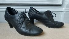 M&S Footglove Black Leather Victorian Style Shoes - UK 4.5 (Gothic / Peaky...