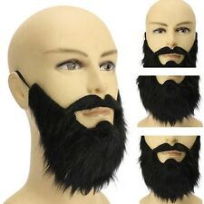 New Fancy Fake Beards Halloween Costume Party Moustache Black Cosplay Dress Up