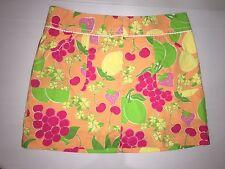 Lilly Pulitzer Cotton Multi Color Floral Skort Sz.10