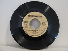 45 RECORD KENNY O'DELL- LET'S SHAKE HANDS AND COME OUT LOVIN