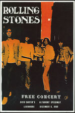 ROLLING STONES 1969 ALTAMONT SPEEDWAY CONCERT POSTER POST CARD from fan club