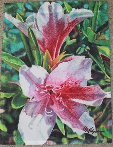 """Pink Azaleas Garden Flag by Toland #1083 11"""" x 14.5"""""""