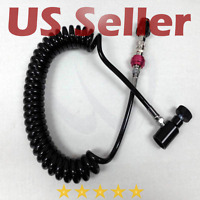 Paintball Remote Line Coiled Hose ASA Slide Check HPA CO2 ALL Paintball Tanks