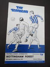 Huddersfield V Nottingham Forest  1972/3