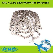 KMC X10.93 Bicycle Chain 10 Speed Silver/Gray for Shimano SRAM MTB/Road Bike NEW