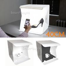 40cm Studio Light Portable Photography Photo Mini Led Box Kit Tent +2 Backdrops