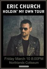 """ERIC CHURCH """"HOLDIN' MY OWN TOUR"""" 2017 EDMONTON CONCERT POSTER - Country Music"""