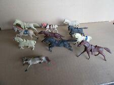 988I Bundle Of 11 Horses Various Plastic