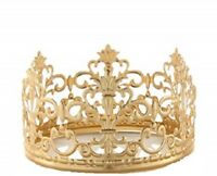 """4"""" wide Gold Royal Crown Cake Topper Birthday Party Centerpiece Decorations"""
