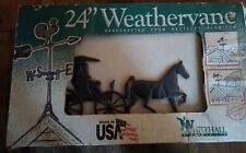 "Whitehall Horse and Buggy Weathervane Rooftop Weather Vane 24"" Black"
