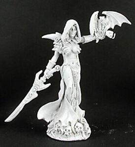 Reaper Miniatures Eldessa, Necromancer #02986 Dark Heaven Unpainted Metal