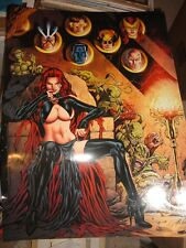 """Al Rio """"Goblin Queen"""" Poster with X-Men 18""""x24"""" large, mint, great color, sexy"""