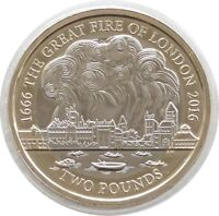 2016 British Great Fire of London 350th Anniversary BU £2 Two Pound Coin