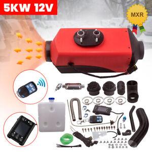 12V 5KW Diesel Air Heater 2KW~5KW Remote Control LCD Caravan Motorhome Trucks