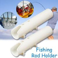 1X Weiß Boot Kunststoff Rutenhalter Rohr Angelrutenhalter Rack