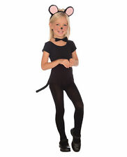 Child Mouse Costume Kit School Play Animal Bowtie Ears Tail Three Blind Mice