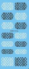 Las transferencias de agua de Arte de Uñas Pegatinas Decals blanco negro flores ENCAJE estampado DS14