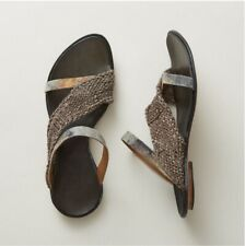 CYDWOQ Siamese Slides Sandals Sz 37 7 Leather Handmade NIB Retail $260
