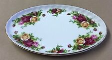 ROYAL ALBERT OLD COUNTRY ROSES OVAL TRINKET DISH SMALL PLATE 22CM VGC