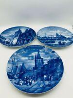 Fürstenberg Jahresteller Köln 3 Stück Wandteller Stadtansichten vor 1900