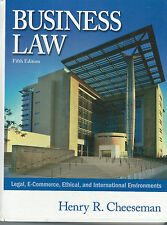 Business Law Legal Ethical International Environments 2003 Hardcover Book